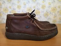 Mens Lacoste Brown Leather Shoes - UK 8