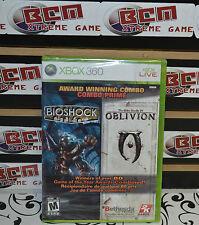 Bioshock & The Elder Scrolls IV: Oblivion Bundle Pack Xbox 360 - NEW & SEALED