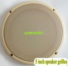 "1pcs 5 ""inch Beige Speaker grilles Car Audio protection cover decorative circle"