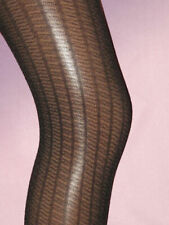 Black Ribbed Tights. Ladies 8-12. semi opaque office smart
