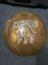 NEW NO BOX Brunswick Gold Rhino Pro Bowling Ball 15lbs 8oz