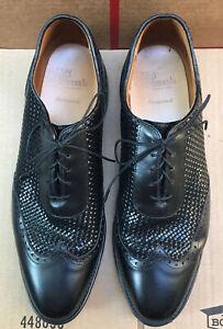 "Allen Edmonds ""Hampstead"" Black Woven Wingtip Oxford Size 11.5 D Made in USA"