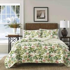 Tommy Bahama Monte Verde Tropical Quilt ~ King ~ Green Leafy Floral BRAND NEW