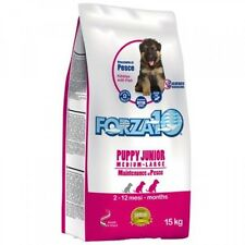 PUPPY JUNIOR MEDIUM / LARGE FORZA 10 AL PESCE 12,5 KG CUCCIOLI TAGLIA MEDIA MAXI