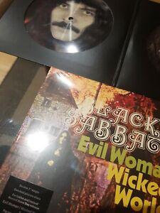 """BLACK SABBATH EVIL WOMAN RSD 2020 2 x 7"""" LIMITED EDITION 750 COPIES PICTURE DISC"""