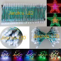 50pcs WS2811 RGB Full Color Pixels 12mm LED String Waterproof Green Wire DC 5V