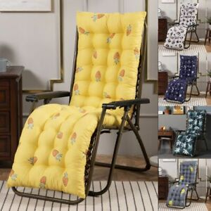 Deck Chair Cushion Lounge Tufted Chaise High Back Padded Outdoor Indoor Recliner