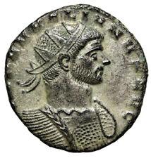 "Aurelian Silvered Antoninianus ""RESTITVT ORBIS Woman, Wreath"" Milan RIC 139 EF"
