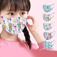 Masque Tissu Protection Enfant 4/11ans Lavable Réutilisable Laisse Respirer Neuf