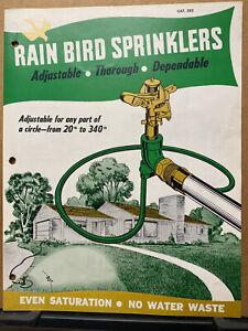 Vtg Rain Bird Sprinklers Brochure 1953 Heads Portable Full Circle 80S Peoria Il