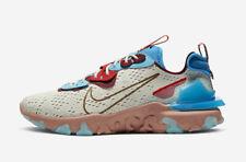 Nike reaccionar visión CD4373-001 Luz Hueso Rosa Dorado Azul Rojo para hombres zapatos de estilo de vida