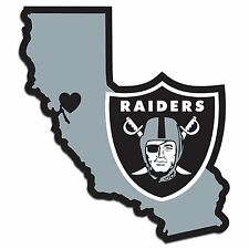 Oakland Raiders Home State Decal Sticker Repositionable NEW USA SHIPPER