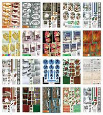 Bumper bargain cardmaking kit 20 A4 die cut decoupage sheets paper craft set #2
