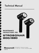 Honeywell Strobonar 800 & 880 Electronic Flashes (1968) Service & Repair Manual