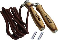RDX Leather Adjustable Speed Skipping Rope Fitness Exercise Workout Gym Jumping