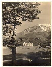 Chateau & Mt Ruapehu - New Zealand Photograph c1930s
