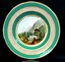 More details for antique fine english porcelain plate foot of snowdon 2399 circa 1850
