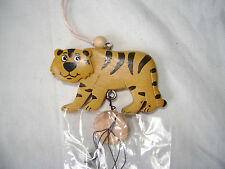 NEW WINDCHIME METAL WIND CHIME WITH WOODEN TIGER NM208 S