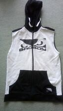 BadBoy Hoodie Guns Muscle Shirt Top Black n  White Heavy Cotton S-M Gym  Boxing