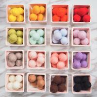 Colorful Pom Pom Felt Balls Wool Beads Nursery Craft Wedding Xmas Wholesale