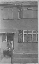 POSTCARD   SOCIAL  HISTORY  ENFIELD   32  Larmans  Road    Mrs Burgess   RP
