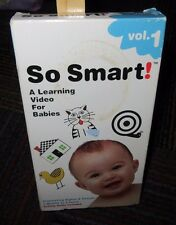 SO SMART - LEARNING VHS VIDEO FOR BABIES VOL.1 STIMULATING SIGHTS & SOUNDS,3MO-3