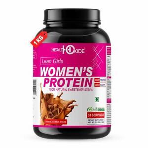HealthOxide Women Protein with 100% Natural Sweetener Stevia – 1 kg (Milk Chocol