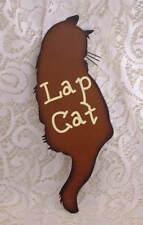New Crazy Cat Lady Folk Art Country Decor  Lap Cat Kitten Metal SIGN Ornament