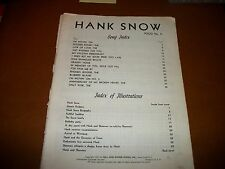 Hank Snow Song Book Folio No. 2  1951 words and music