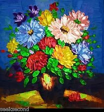 Framed Acrylic Paint by Number kit 50x40cm (20x16'') The Flowers Diy Lg7115