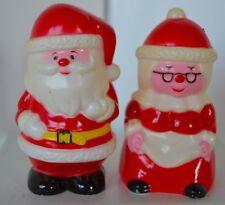 Vintage Christmas Salt Pepper Shaker Plastic  Santa some Discoloring Celluliod
