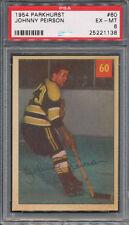 1954/55 Parkhurst #60 Johnny Peirson PSA EX-MT 6 *1138