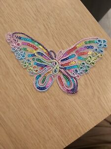 Butterfly patch applique motif 60mm iron on craft