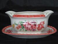 Villeroy & Boch Keramik Fiorello Sauciere mit Blumenmotiv und Handmalerei