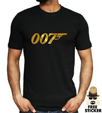 James Bond 007 T-shirt Classic Film Retro Movie Gift Dad Fathers Tee ALL SIZES