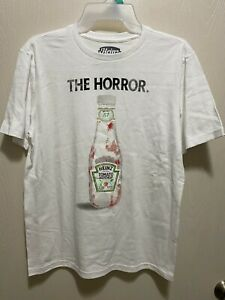"""Heinz Ketchup """"The Horror"""" Boys TEE T SHIRT Size Large 10/12 Funny Brand New"""