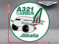 ALITALIA NEW LIVERY PUDGY AIRBUS A321 ROUND DECAL / STICKER