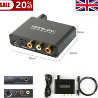 192KHZ Digital Optical Toslink To Analog Stereo DAC L/R 3.5mm Audio Converter @@