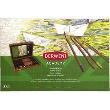 BNIB Derwent Academy Wooden Art Box Pencil Set 35 Piece Christmas Birthday Gift