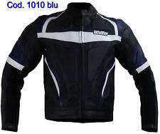 Biker moto chaqueta cazadora moto de cuero XL XXL 3XL 4XL azul 54 56 58