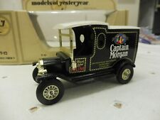 Matchbox Moy Y 12 Ford Model T Van Captain Morgan Issue 6 schwarze Sitze