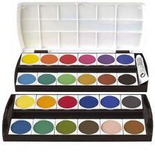 Boîte de peinture Geha 24 Couleurs y compris Blanc opaque Boîtes Pinceaux