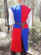 Medieval Knight Surcoat (Red & Blue) quartered LARP halloween costume SIZE S