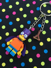 The Simpsons Bartman Keyring / Keychain...Handmade using LEGO® parts