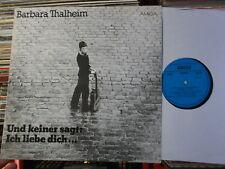 BARBARA THALHEIM  DDR AMIGA  LP: UND KEINER SAGT: ICH LIEBE DICH... (845229)