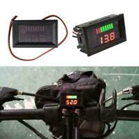 12V-60V Car Marine Battery Gauge Motorcycle LED Digital Meter Voltage F6L2 Z3Z9