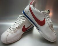 Nike 807471-103 Classic Cortez Leather Women's Running Shoes White/Red/Blue US9