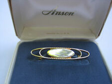 Vintage Anson Silver and Gold-Tone Tie Bar, New Old Stock, Orginal Box