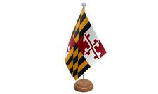Maryland Usa americana da tavolo Bandiera con di legno supporto