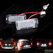 2 White LED License Number Plate Light Ford Focus C-MAX S-MAX Mondeo Kuga Ranger